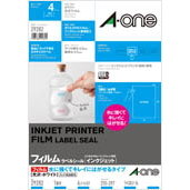 Label Sticker [Inkjet] Type That Is Water-Resistant And Can Be Neatly Peeled Off, Glossy Film / White