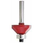 Carbide Trimmer / Router Bit, Chamfering Bit 45° 25 mm TRBP-31