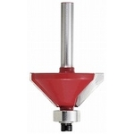 Carbide Trimmer / Router Bit, Chamfering Bit 45° 35 mm TRBP-32