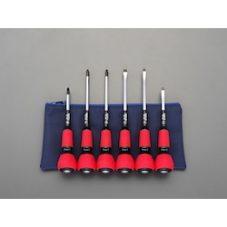 [6 Pcs] (+)(-) Power Grip Hammerhead Screwdriver EA557AK-600
