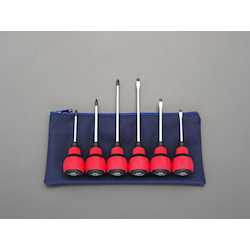 [6 Pcs] Short Power Grip Screwdriver EA557AN-600