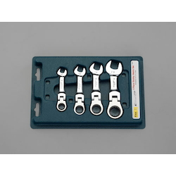 [4 Pcs] Stubby Gear Wrench Set (Flex Type) EA614LT