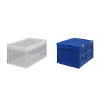 Hard Foldable Container with Integrated Lid Blue/White