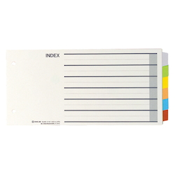 Color Index, Standard: 5 X 10 Horizontal Type, Number of Holes: 2, Specifications: 6 Colors / 6 Tabs / 7-Piece Set