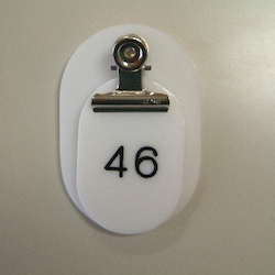 Parent/Child Tags, Continuous Numbers 1-50 White
