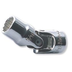 "Hand Socket 1/4"" ""(6.35 mm) 12Universal Socket AS2445A"