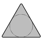 "60° Triangle Positive without Hole TPGR○○-A ""Finishing"""