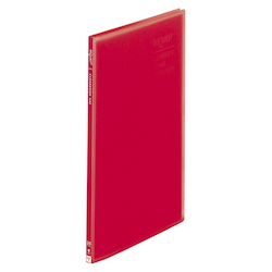 Request / Transparent Clear Book, A4 Size Portrait, (20 Pockets), Red