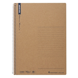 B5 Spiral Note, Horizontal Lines, 80 Pages