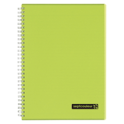 Sept Couleur Notebook B5 Green