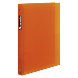 Sept Couleur Plastic Binder Thick Type B5 Size (26 Holes) Orange