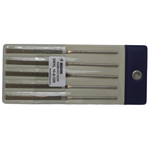 Diamond Electrodeposition Needle File DNYL, Same Shape/Same Grain Size, 5-Piece Set