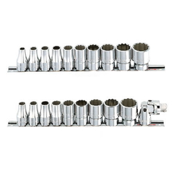 Socket Wrench Set (Standard Type) mm 10 pcs. 11 pc. set, 9 pcs. 11 pc. set RS4□M-□