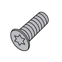 Flat Screw for X's Wavy Mill Ball