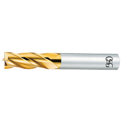 TIN Coated End Mill (4-Flute Short Type) EX-TIN-EMS