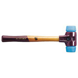 SIMPLEX soft-face mallets, with cast steel housing and high-quality wooden handle