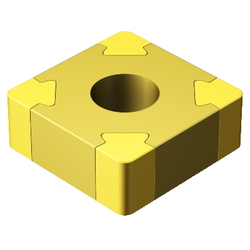 T-Max P Negative Insert For Turning (Square Shaped 90°)