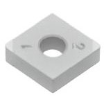 SUMIBORON Insert, 80° Diamond-Shape With Hole, Negative, 4NC-CNGA