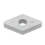 SUMIBORON Insert, 55° Diamond-Shape With Hole, Negative, 4NC-DNGA-HS