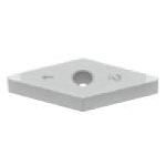 SUMIBORON Insert, 35° Diamond-Shape With Hole, Negative 4NC-VNGA-HS