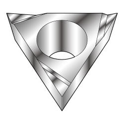 Triangle-Shape With Hole, Positive 11°, TPGT○○○-AY, For Aluminum