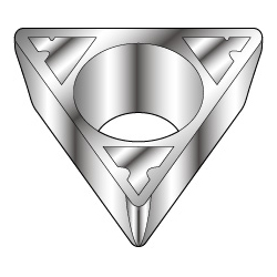 Triangle-Shape with Hole, Positive 11°, TPMT-LB, For Light Cutting