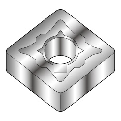 Square-Shape With Hole, Negative, SNMG-EM, For Medium To Rough Cutting