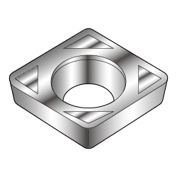 80° Diamond-Shape With Hole, Positive 11°, CPMT-LB, For Light Cutting