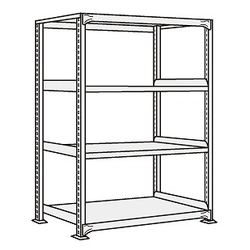Medium/Light Duty Shelfs, NEW Type (White Gray), Height 1200 mm