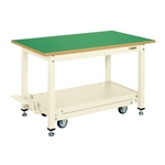 Medium Duty Workbench, KT Type, Pedal-Lift/Mobile, Uniform Load 800 kg, Frontage 1,200 mm/1,500 mm / 1800 mm