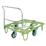 Free Movable Rotating Dolly, 200⌀, Rubber, with Handle