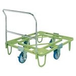Freely Rotating Dolly, 200⌀, Urethane, with Handle