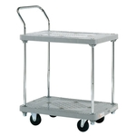 Resin Handcart, Standard Caster, 2-Level One-Side Handle