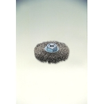 Threaded Stainless Steel Press Wheel Brush