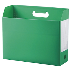 Add One, Box File, A4, Lateral, Green