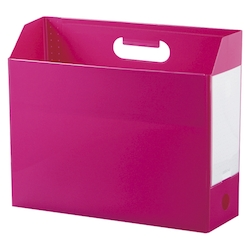 Add One, Box File, A4, Lateral, Pink