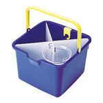 Bucket with Partition Rack