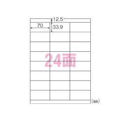 Nanalabel A4 Size World Price Label, 100 Sheets X 5 Books, Standard: 24 per A4 Sheet WP02401