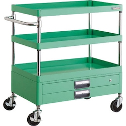 Phoenix Wagon (Noise Suppression Type with Double-Level Drawers) Height 740/880 mm