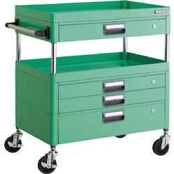 Phoenix Wagon (Noise Suppression Type with Thin Single-Level/Single-Level/Double-Level Drawers) Height 880 mm