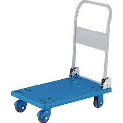 Plastic Trolley, Grand Cart, Silent, Folding Handle Type