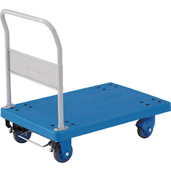 Plastic Trolley, Grand Cart, Silent, Fixed Handle Type / with Stopper