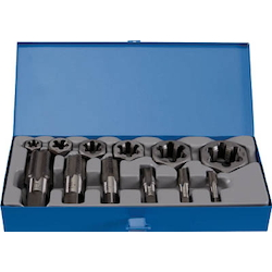Tap for Pipes, Hexagonal Chamfered Nut Die Set (PF Screw)