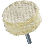 Sisal Shafted Wheel (Shaft Diameter: 6 mm)
