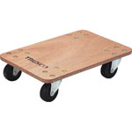 Flat trolley, Little Cargo, w/ rubber casters