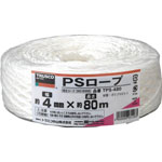PS Rope 3 mm, 4 mm x 80 mm / 4mm x 300 m / 5 mm x 200 m