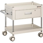 Falcon Wagon Filing Trolley (Urethane Double-Caster Specification / with 1 Deep Drawer)