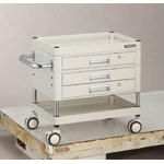 Falcon Wagon Filing Trolley (Urethane Double-Caster Specification / with 2 Drawers & 1 Slim Drawer)