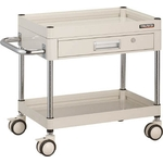 Falcon Wagon Filing Trolley (Urethane Double-Caster Specification / with 1 Slim Drawer)
