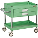 Falcon Wagon Filing Trolley (Urethane Double-Caster Specification / with 2 Drawers)